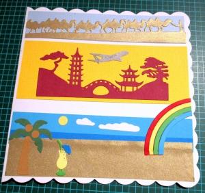 RESERVIERT, Get Well Soon Karte, Weltbummler, Urlauber, Welt sehen, die Karte ist ca. 15 x 15 cm