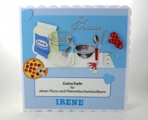RESERVIERT, Geburtstagskarte für Kochkurs, Grußkarte für Kochliebhaber, die Karte ist ca. 15 x 15 cm
