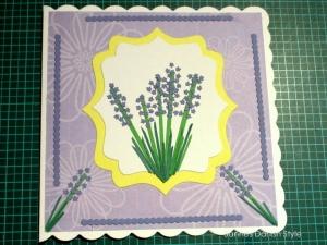 RESERVIERT Grußkarte mit Lavendel, ca. 15 x 15 cm