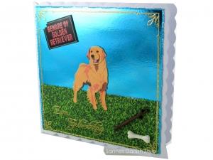 Geburtstagskarte für Golden Retriever Besitzer, Hundetrainer, mit Golden Retriever, ca. 15 x 15 cm - Handarbeit kaufen