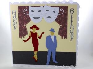 RESERVIERT Theaterkarte, Glückwunschkarte Theaterbesuch, Einladung Theater, schöne Geburtstagskarte, Karte ist ca. 15 x 15