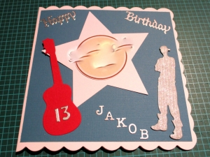 RESERVIERT, Geburtstagskarte, Glückwunschkarte, Musik, die Karte ist ca. 15 x 15 cm
