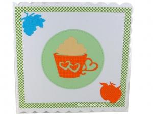 Geburtstagskarte, Gute Besserung, Einladungskarte, Café, heiße Schokolade, die Karte ist ca. 15 x 15 cm - Handarbeit kaufen