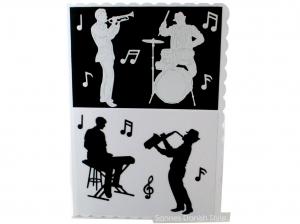 DIN A5 Glückwunschkarte, Einladung Konzert, Grußkarte für Musiker, Musik, Band, Faltkarte, die Karte ist ca. DIN A5 Format - Handarbeit kaufen