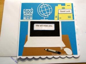 RESERVIERT, Büro, Schule, Abschiedskarte, die Karte ist ca. 15 x 15 cm