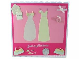 Karte zur Frauenhochzeit, Hochzeitskarte Frauen, Glückwunschkarte für das glückliche Brautpaar, die Karte ist ca. 15 x 15 cm - Handarbeit kaufen