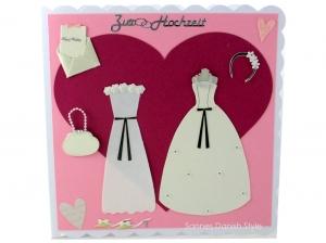 Hochzeitskarte für zwei Frauen, Glückwunschkarte für das glückliche Brautpaar, die Karte ist ca. 15 x 15 cm - Handarbeit kaufen