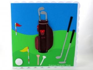 Geburtstagskarte mit Golfmotive, für Golfer, Herzlichen Glückwunschkarte Golfkarte, die Karte ist ca. 15 x 15 cm