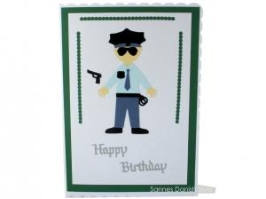 XL Grußkarte Polizist, Geburtstagskarte, Uniform, Glückwunschkarte,, DIN A5 Format - Handarbeit kaufen