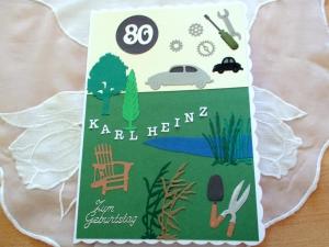 RESERVIERT Geburtstag KFZ Mechaniker, Garten, Glückwunschkarte, Grußkarte, die Karte ist ca. DIN A5 Format