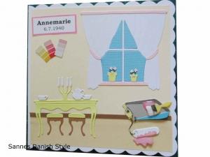 RESERVIERT, Grußkarte für Malerarbeit, Wohnzimmer, Handwerker, Geburtstagskarte für selber Macher, ca. 15 x 15 cm