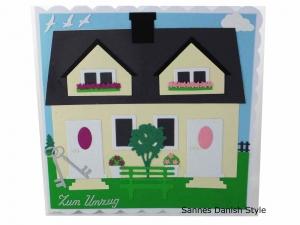 Umzugskarte, Einzugskarte, Umzug in neues Haus, Glückwünsche an Hausbesitzer, die Karte ist ca. 15 x 15 cm - Handarbeit kaufen