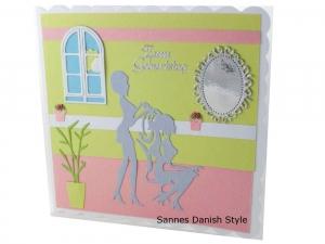 3D Friseur Geburtstagskarte, Friseurkarte, Grußkarte für Friseurbesuch, Grußkarte Geldgeschenk, schnell bestellen, die Karte ist ca. 15 x 15 cm - Handarbeit kaufen