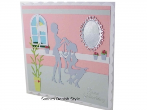 Geburtstagskarte Friseur 3D, Friseurkarte, Grußkarte für Friseurbesuch, Grußkarte Geldgeschenk, schnell bestellen, die Karte ist ca. 15 x 15 cm