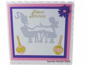 3D Nagelstudio Geburtstagskarte, Nagelstudiokarte, Grußkarte für schöne Nägel, Grußkarte Geldgeschenk, gleich bestellen, die Karte ist ca. 15 x 15 cm - Handarbeit kaufen