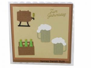 Geburtstagskarte Bier, Bierprobe, Geburtstagsparty, Männerkarte, Karte für Bierfans, die Grußkarte ist ca. 15 x 15 cm  - Handarbeit kaufen