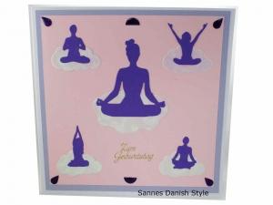 XL Geburtstagskarte, 3D Grußkarte, Entspannung, Meditation oder Yoga, diese Karte ist für die Frau, die Karte ist ca.20 x 20 cm - Handarbeit kaufen