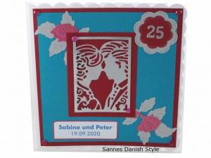 RESERVIERT, Silberhochzeitskarte, Glückwunschkarte zum 25. Hochzeitstag, die Karte ist ca. 15 x 15 cm