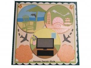 RESERVIERT, Weltbummler, Urlauber, Reisen, Geburtstagskarte für Reisebüros, Welt sehen, die Karte ist ca. 15 x 15 cm