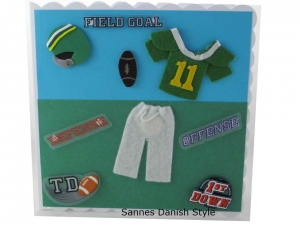 Geburtstagskarte American Football, Glückwunschkarte Football, Sportkarte, die Karte ist ca. 15 x 15 cm - Handarbeit kaufen