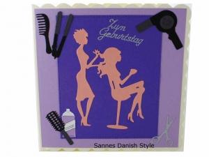 Grußkarte für Friseurbesuch, 3D Geburtstagskarte Friseur, Friseurkarte, Grußkarte Geldgeschenk, schnell bestellen, die Karte ist ca. 15 x 15 cm