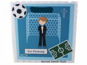 RESERVIERT, Karte zur Firmung, Glückwunschkarte zur Firmung, Firmungskarte für Jungen, die Karte ist ca. 15 x 15 cm