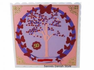 RESERVIERT, Geburtstagskarte, Glückwunschkarte, Lebensbaum, die Karte ist ca. 15 x 15 cm