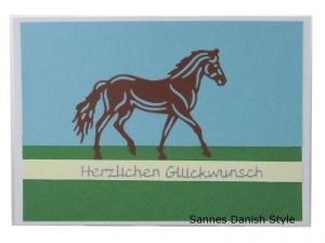 Pferdekarte, Postkarte mit einem Pferd, Für Pferdemädchen, Pferdeliebhaber, die Postkarte ist ca. DIN A6 (14,8 x 10,5) Format - Handarbeit kaufen