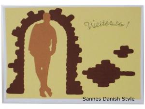 Neutrale Postkarte für einen Jungen, Weiter so, für Jungs, Mann, die Postkarte ist ca. DIN A6 (14,8 x 10,5) Format - Handarbeit kaufen