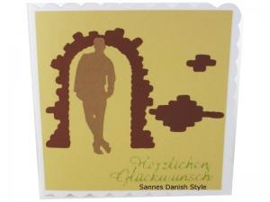 Grußkarte für Jungs, Geburtstagskarte, neutrale Grußkarte, Mann, Jungs, als Silhouette, die Karte ist ca. 15 x 15 cm - Handarbeit kaufen