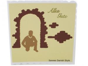 Glückwünsche für den Mann, Geburtstagskarte, neutrale Grußkarte, Mann, Jungs, als Silhouette, die Karte ist ca. 15 x 15 cm - Handarbeit kaufen