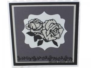 RESERVIERT, Trauerkarte, schwarz, graue Trauerkarte