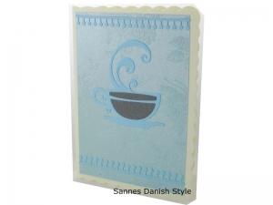 Grußkarte für viele Anlässe, neutrale Grußkarte mit Tasse, die Karte hat ca. DIN A6 (14,8 x 10,5 cm) Format - Handarbeit kaufen