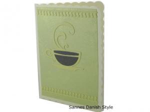 Neutrale Grußkarte für viele Anlässe, Grußkarte mit Tasse, die Karte hat ca. DIN A6 (14,8 x 10,5 cm) Format - Handarbeit kaufen