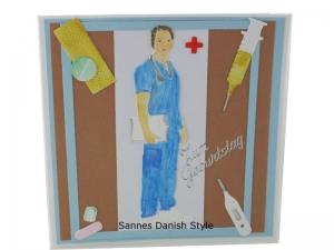 Arzt Geburtstagskarte, Grußkarte, Glückwunschkarte, Arzt, Mediziner, Pflegekraft, Geburtstagskarte für Medizinbereich, die Karte ist  13,5 x 13,5 cm - Handarbeit kaufen
