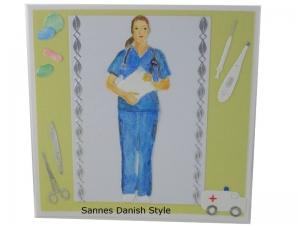 Mediziner, Geburtstagskarte Ärztin, Mediziner, Pflegekraft, Geburtstagskarte für Medizinbereich, die Karte ist 13,5 x 13,5 cm - Handarbeit kaufen