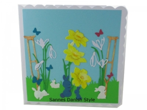 RESERVIERT, Get Well Soon, Blumen, Kaninchen, die Karte ist ca. 15 x 15 cm