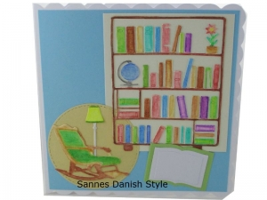 RESERVIERT, Get Well Soon, Bücherregal, Buch, die Karte ist ca. 15 x 15 cm