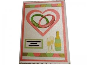 RESERVIERT, XL Hochzeitskarte, Eheringe, Die Karte ist ca. DIN A5