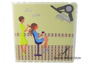 Friseur Geldgeschenk, Grußkarte für die Frau, Friseur Gutschein, 3D Geburtstagskarte Friseur, Grußkarte Geldgeschenk, gleich kaufen, die Karte ist ca. 15 x 15 cm - Handarbeit kaufen