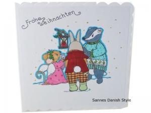 Weihnachtskarte, gestempelt und koloriert, schöne Weihnachtsgrüße, für groß und klein, die Karte ist ca. 15 x 15 cm - Handarbeit kaufen