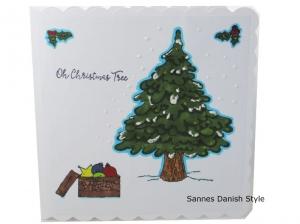 Weihnachtsbaum, Weihnachtskarte, Frohe Weihnachten, Weihnachtsgrüße mit englischen Text. Weihnachtsgrüße, die Karte ist ca. 15 x 15 cm - Handarbeit kaufen