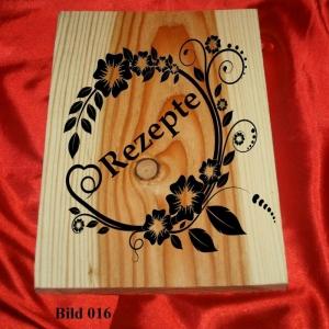 Rezeptbuch, massives Lärchenholz, 256 leere linierte Seiten - Handarbeit kaufen