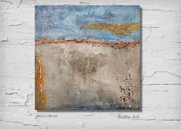 Acrylbild, Abstrakt,ModerneKunst ** Fernweh**