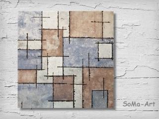 Acrylbild ☆Quadrix 2☆ 50cm x 50 cm auf Keilrahmen, Moderne Malerei ** SoMa_Art