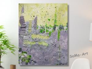 Acrylbild ☆Erneuerung ☆ Kunst, Leinwand, Wandbild, Moderne Malerei,  Collage ** SoMa_Art