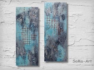 Acrylbild ☆Verbundenheit Duo☆ Wandbild, Strukturbild, Kunst, Leinwand, Moderne Malerei ** SoMa_Art