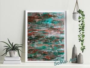 Acrylbild ☆Sturm zieht auf ☆ 40cm x 50 cm auf Papier, Moderne Malerei, Abstrakt ** SoMa_Art