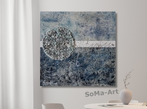 Acrylbild ☆Little World 2☆ Kunst, Wandbild,  Leinwand, Moderne Malerei ** SoMa_Art