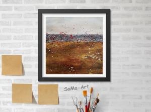 Acrylbild ☆ Auszeit ☆ Dekoration, Kunst, Kleine Bilder,Acrylbild auf Papier, Moderne Malerei ** SoMa_Art